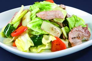 塩麹 肉野菜炒め